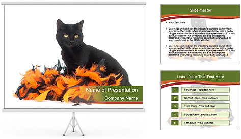 Halloween decorations PowerPoint Template