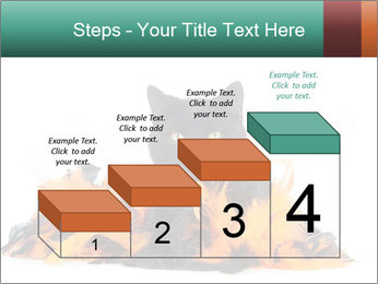 Black cat PowerPoint Template - Slide 64