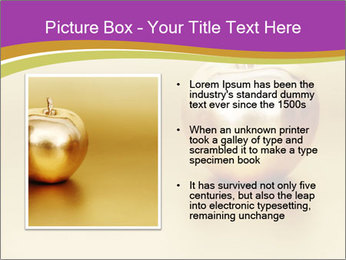 Gold apple PowerPoint Template - Slide 13
