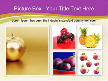 Gold apple PowerPoint Template - Slide 19