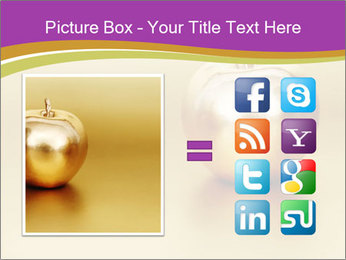 Gold apple PowerPoint Template - Slide 21