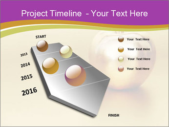 Gold apple PowerPoint Template - Slide 26