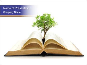 Tree growing PowerPoint Template - Slide 1