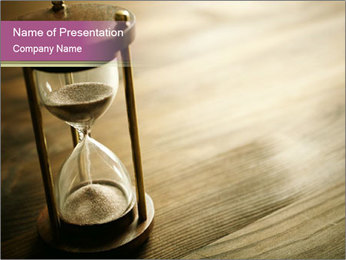 Hourglass PowerPoint Template - Slide 1