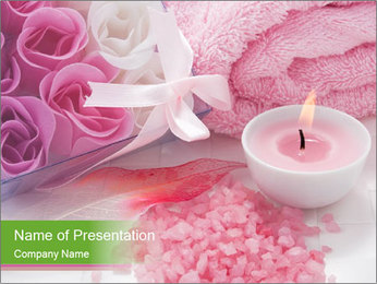 Aroma candle PowerPoint Template - Slide 1