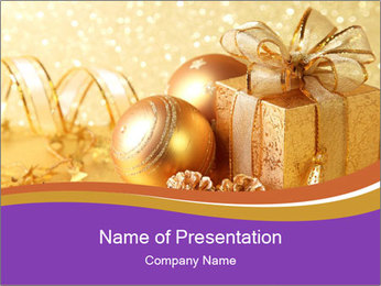 Christmas gift box PowerPoint Template