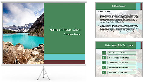 Moraine Lake PowerPoint Template