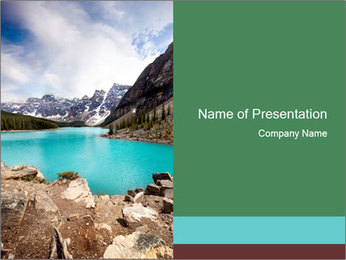 Moraine Lake PowerPoint Templates - Slide 1