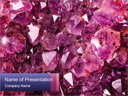 Natural amethyst PowerPoint Template