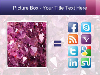 Natural amethyst PowerPoint Template - Slide 21