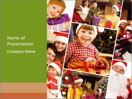 Collage of family PowerPoint Templates