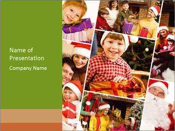 Collage of family PowerPoint Template