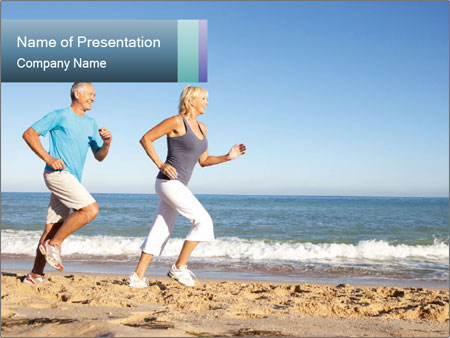 Senior Couple PowerPoint Templates