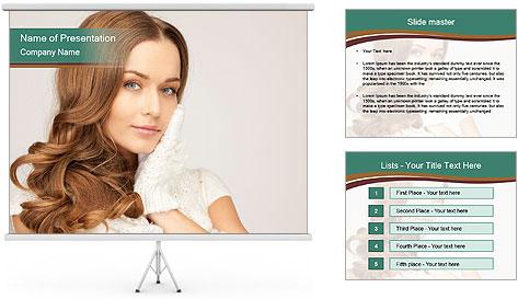 Beautiful woman PowerPoint Template