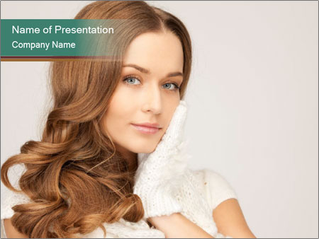 Beautiful woman PowerPoint Templates