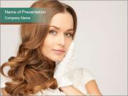 Beautiful woman PowerPoint Template
