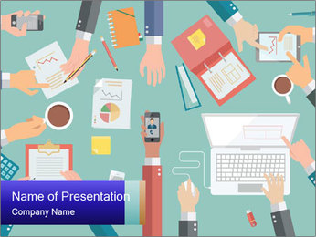 Working office PowerPoint Template