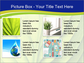 Leaf close-up PowerPoint Template - Slide 14