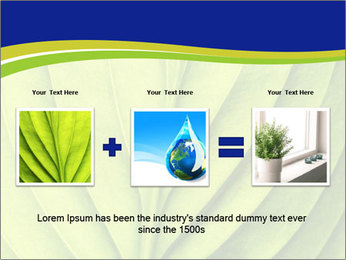 Leaf close-up PowerPoint Template - Slide 22