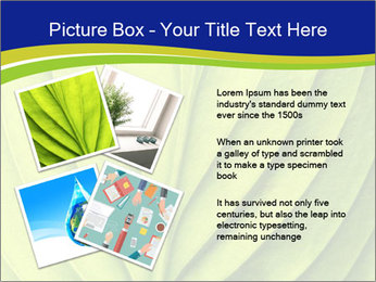Leaf close-up PowerPoint Template - Slide 23
