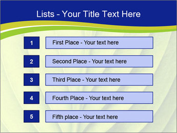 Leaf close-up PowerPoint Template - Slide 3