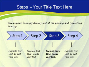 Leaf close-up PowerPoint Template - Slide 4