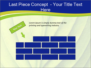 Leaf close-up PowerPoint Template - Slide 46