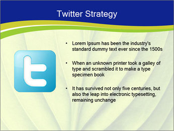 Leaf close-up PowerPoint Template - Slide 9