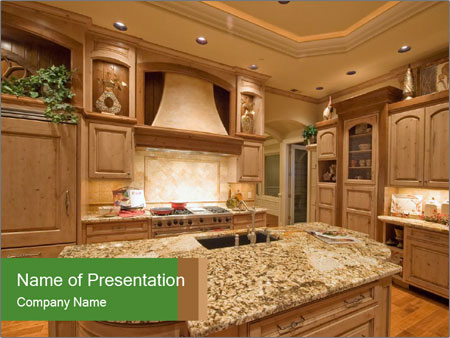 Beautiful Kitchen PowerPoint Template
