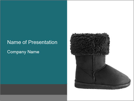 Sheepskin boot PowerPoint Template