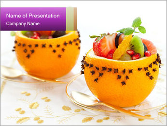 Fruit salad PowerPoint Templates - Slide 1