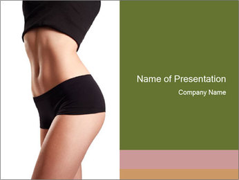Fit Woman PowerPoint Template - Slide 1