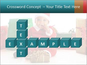 Baby Santa PowerPoint Template - Slide 82