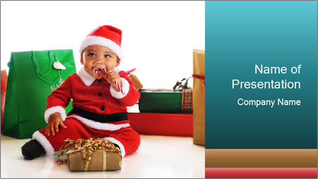 Baby Santa PowerPoint Template