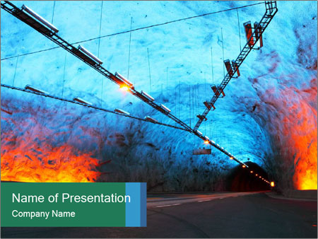 Laerdal Tunnel PowerPoint Template