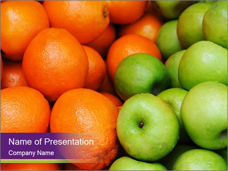 Apples and oranges PowerPoint Templates