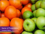 Apples and oranges PowerPoint Template