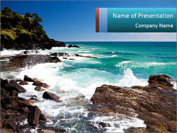 Amazing ocean PowerPoint Template
