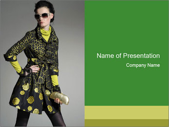 Fashion model PowerPoint Template - Slide 1