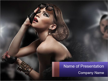Famous woman PowerPoint Template - Slide 1
