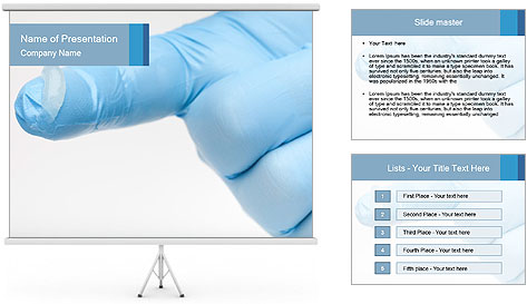 A gloved hand PowerPoint Template
