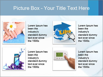 A gloved hand PowerPoint Template - Slide 14