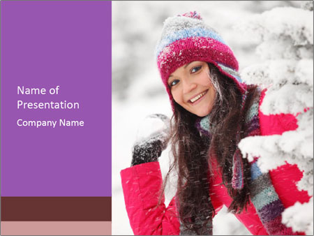 Winter woman PowerPoint Templates