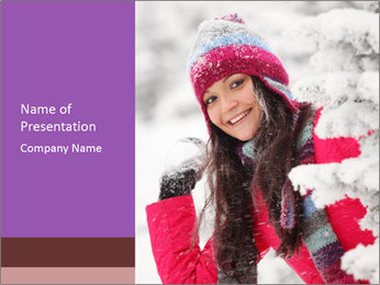 Winter woman PowerPoint Template