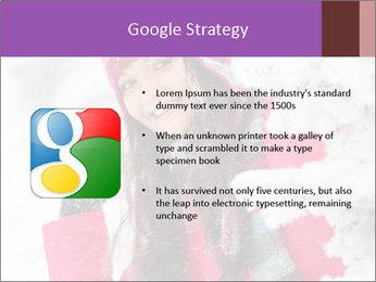 Winter woman PowerPoint Template - Slide 10