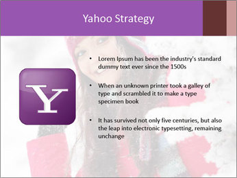 Winter woman PowerPoint Template - Slide 11