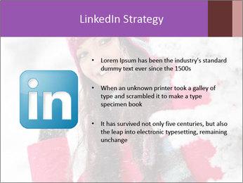 Winter woman PowerPoint Template - Slide 12