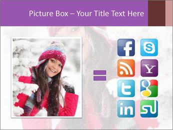 Winter woman PowerPoint Template - Slide 21