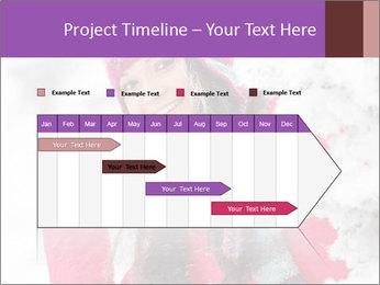Winter woman PowerPoint Template - Slide 25