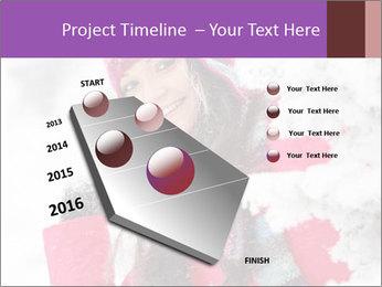 Winter woman PowerPoint Template - Slide 26